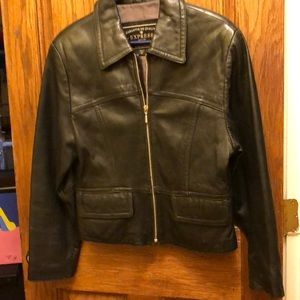 Express leather jacket needs a new home.